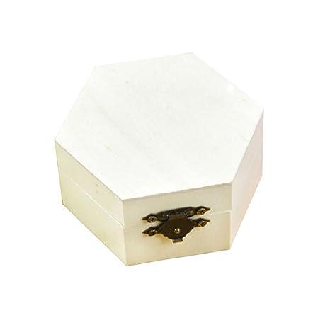 Hosaire 1X Hexágono Caja de Regalo De Madera,Caja de ...