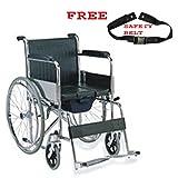 Mcp Jindal Folding Steel Regular Commode Wheelchair