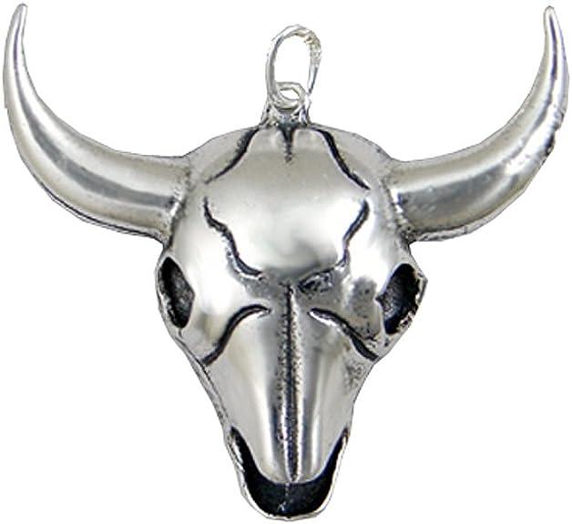 10 x Tibetan Silver Cow Ox-head Skull Charm Pendants For Jewelry Making