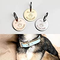 Personalized Dog Tag Pet Collar Tag Dog ID Tag Cat Collar New Dog Gift Identification Tag Valentine's Day Gift for Her Him - LCT