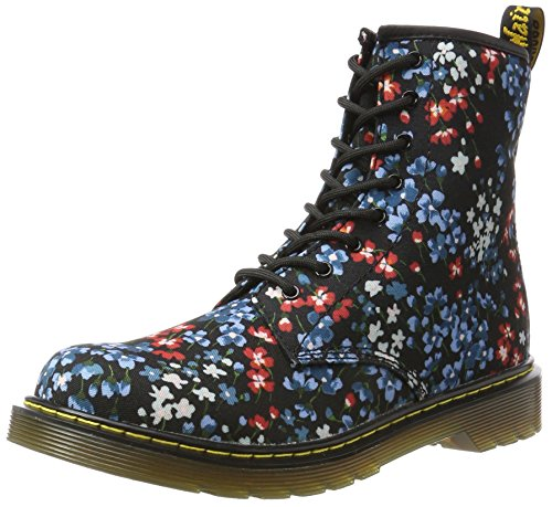 Dr. Martens Unisex-Kinder Delaney Y Kf Black Kelly Floral T Canvas Stiefel Schwarz (Black)