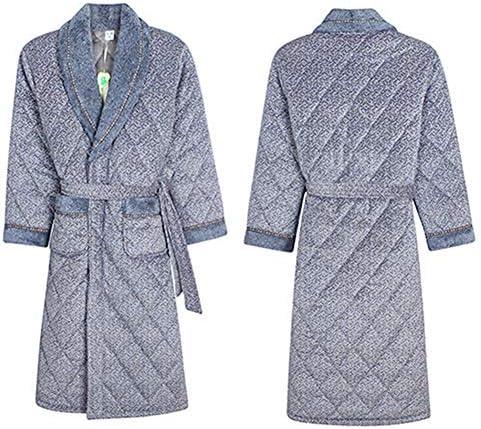 ナイトガウン メンズ 冬 バスローブ 防寒保温 部屋着 ルームウェア ポケット付き ナイトウェア 毛布 フラノ 紳士ガウン 大きい L/XL/XXL/3XL