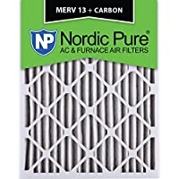 Nordic Pure 10x20x2M13+C-3 MERV 13 Plus Carbon AC Furnace Air Filters, Qty-3