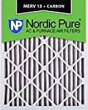 Nordic Pure 14x24x2M13+C-3 MERV 13 Plus Carbon AC Furnace Air Filters, Qty-3 For Sale