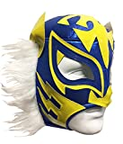 WHITE TIGER Adult Lucha Libre Wrestling Mask (pro-fit) Costume Wear - Blue/Yellow