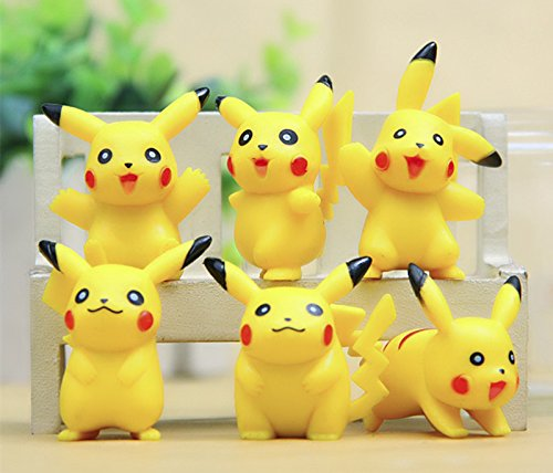 [6pcs Six Styles Pikachu Mini Action Figures Doll Collections Toys.] (Froakie Costume)