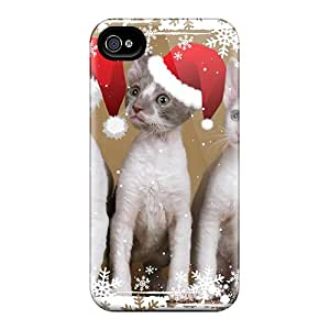 Perfect Christmas Kittens Case Cover Skin For Iphone 4/4s Phone Case