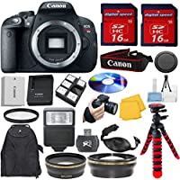 Canon EOS Rebel T5i DSLR Camera Body Bundle with Wide Angle Lens, Telephoto Lens and Starter Kit (11 Items) Basic Intro Review Image