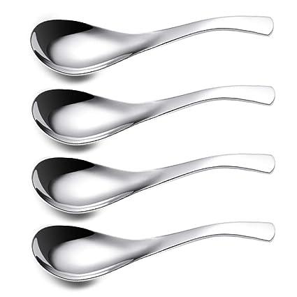 ercentury sopa de acero inoxidable cuchara, cuchara, cuchara de café, cuchara, postre etc. Peso ligero y pequeño tamaño especialmente adecuado para ...