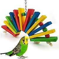 Keersi Juguete de Madera Colorida para pájaros, periquitos ...