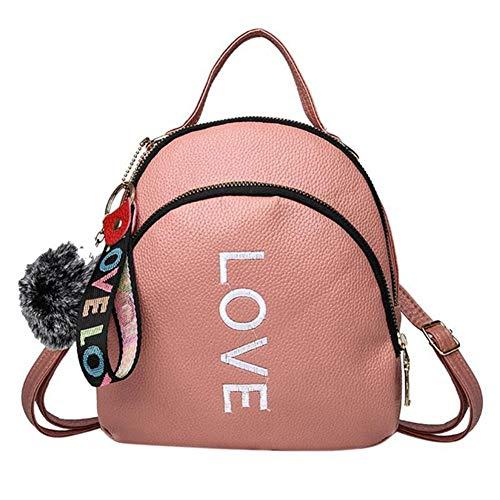 VHVCX à Mode Vintage Sacs Petit Noir Girls Rucksack d'école dos sacs dos Pu à cuir sac Simple femmes Plein Style Pink pour en Teenage UHrx4IwH
