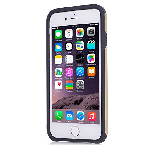 """Apple iPhone 6 4.7"""" TPU Case Kombination Surface Screen Protector Hülle Gold"""