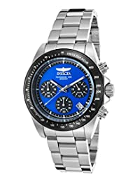 Invicta Men's 'Speedway' Quartz Stainless Steel Casual Watch, Silver-Toned (Model: 23122)