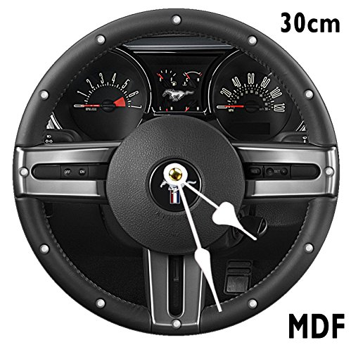 FORD MUSTANG Wheel Wall Clock Large 30CM MDF CAN BE PERSONALISED
