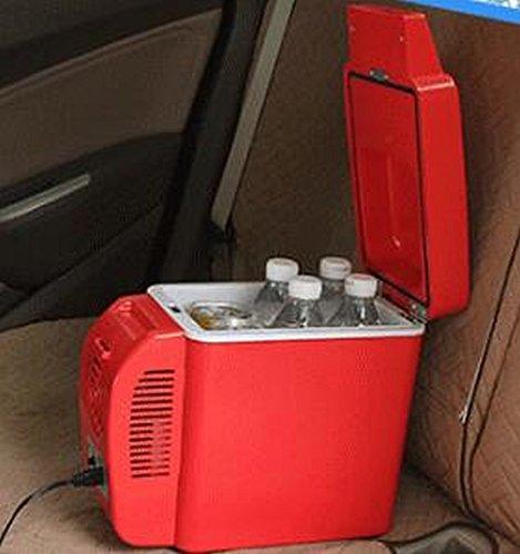 el Refrigerador Del Coche 7L12V Frío Y Caliente Coche de Caja Doble Mini Refrigerador Congelador Puede Ser Enfriado / Calefacción,Rojo,7L by HOMEE @