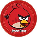 """American Greetings Angry Birds Round Plate (8 Count), 9"""""""