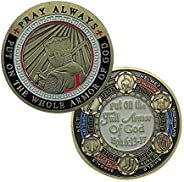 BHealthLife Pray Always Challenge Coin Put On The Whole Armor of God Knight Templar Coin Collection