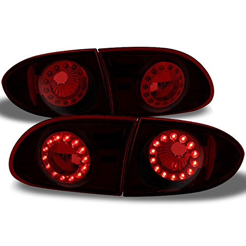 Dr Coupe & 4Dr Sedan LED Style Red Lens Taillights Repalcement Pair 4pcs Assemblies ()