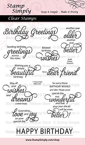 (Stamp Simply Clear Stamps Happy Birthday Sentiments Christian Religious 4x6 Inch Sheet - 10)