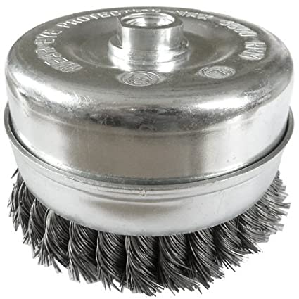 RauchoFlex 120mm x M14 bore Twist Knot Cup Wire Brush. Use on 180mm or 230mm Grinders