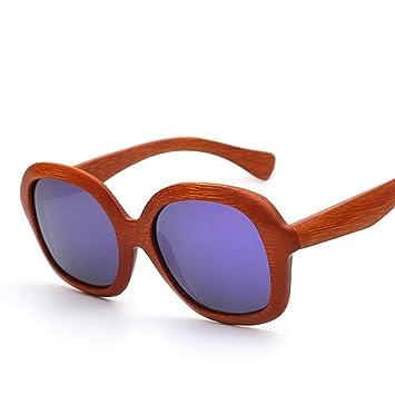 Z&YQGran Marco de Gafas de Sol de Madera polarizadas Hombres ...