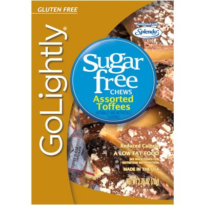 Go Lightly Sugar Subject to Toffees Assorted, 2.75 oz bag, Kosher
