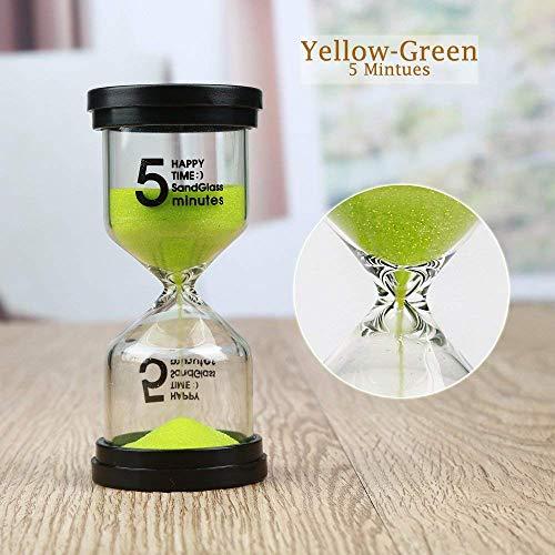 Lonnom Sand Timer Set 3 Pack Colorful Sandglass Hourglass