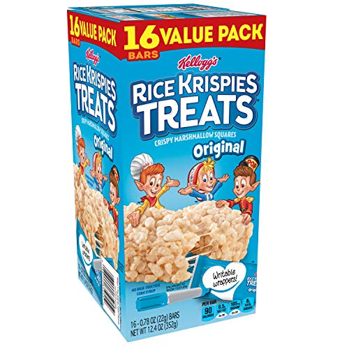 Kellogg's Rice Krispies Treats, Crispy Marshmallow Squares, Original, Value Pack, 0.78 oz Bars (16 Count) -