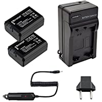 Bonadget 2 Pack 1500mAh Power Battery and Charger Kit for Sony NP-FW50 Alpha 7, a7, Alpha 7R, a7R, Alpha a3000, Alpha a5000, Alpha a6000, Alpha a3000,NEX-3, NEX-3N, NEX-5, NEX-5N, NEX-5R, NEX-5T