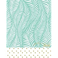 2018 planner: Mint daily planner with weekly monthly calendar and at-a-glace 2018-2019 calendars, Exotic palm leaf softcover: 1 year personal planner for business,life goals,passion,and happiness