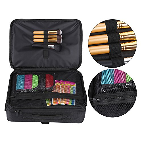 Hotrose Professhional Large Space Makeup Brush Bag - Cosmetic Artist Organizer Kit - Handle Shoulder Bag - Travel Box (Large) by Hotrose® (Image #6)