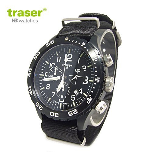 traser Watches Military Watch Officer Chrono Pro Chronograph All Black P6704.4A3.I2.01 Men's 9031555