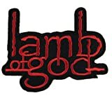 : lamb of god Logo Punk Rock Heavy Metal Music Band Jacket T shirt Patch Sew Iron on Embroidered Symbol Badge Cloth Sign Costume By Prinya Shop