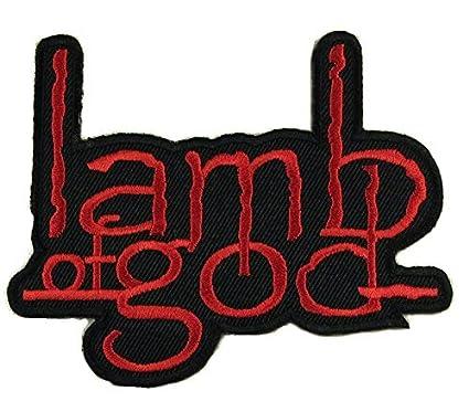 amazon com lamb of god logo punk rock heavy metal music band jacket rh amazon com Heavy Metal Jean Vest Heavy Metal Patches for Jackets