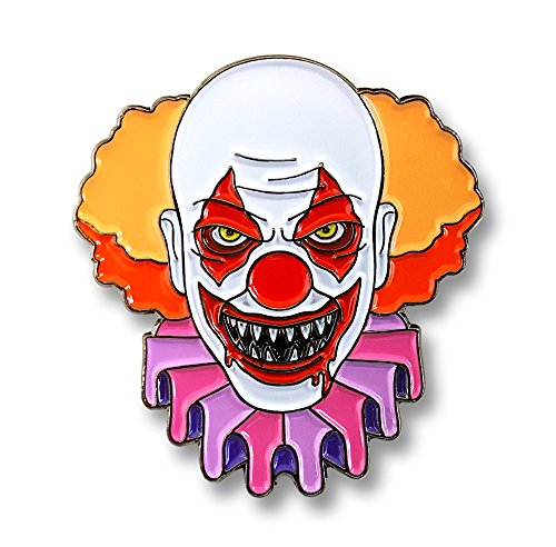 Pinsanity Creepy Evil Clown Horror Enamel Lapel Pin (Pin Lapel Clown)
