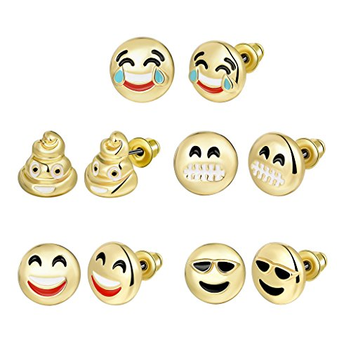 Choker Plated Funny Emoticon Earrings