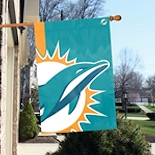 Party Animal Miami Dolphins Bold Logo Banner NFL Flag