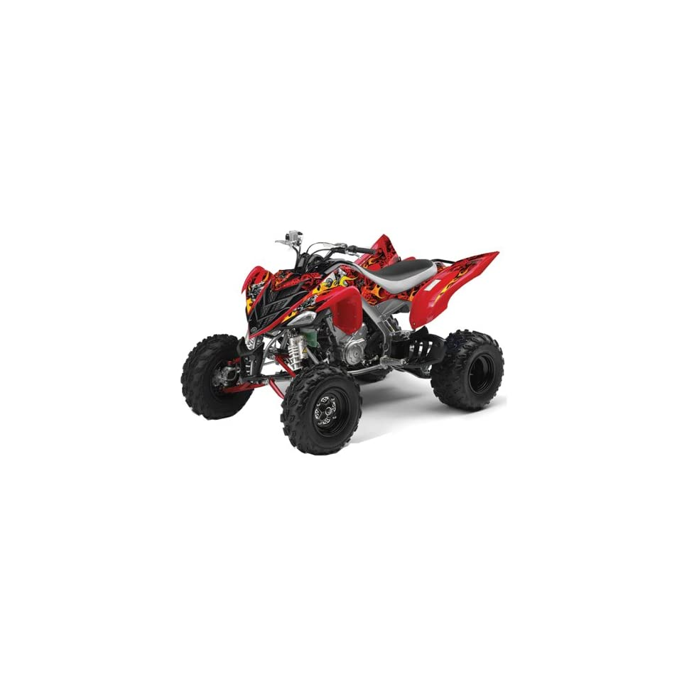 AMR Racing Yamaha Raptor 700 ATV Quad Graphic Kit   Motorhead Red