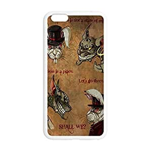 Cheshire Cat Quotes We Are All Mad Here Printed Environmental Custom TPU Case Cover for iPhone 6 Plus 5.5 Kimberly Kurzendoerfer