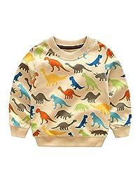 Mud Kingdom Boys Sweatshirt Cartoon Dinosaur Lightweight