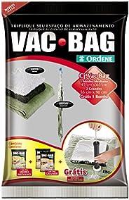 Conjunto Armazenamento à Vácuo, Vac Bag, 1 Saco Médios (45cmx65cm), 2 Sacos Grandes (55comx90cm) + Bomba Plást