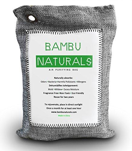 Natural Air Purifying Bamboo Charcoal Bag 250g Money Back Guarantee Fragrance Free Absorb