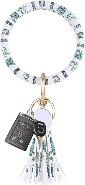 Lateefah Wristlet Keychain Bracelet Keyring Bangle Key Ring Tassel Key Chain