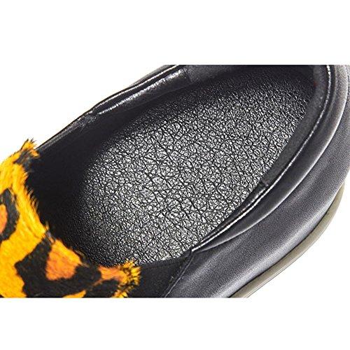 Plateformes Dessus Créatif Chaussures Semelles Femme WSXY A0509 Double KJJDE Yellow à TqUgqO