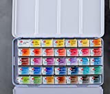 WHITE NIGHTS Artist Watercolor Set, 35 Colors in a
