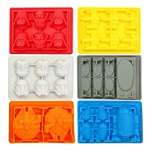 Upspirit(TM) Hot New Star Wars Ice Cube Tray Silicone Mold Ice Tray Jelly Kitchen Tool Pack of 1set