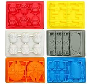 Joyoldelf Moldes silicona, moldes star wars, moldes para bizcocho, hielo, chocolate, 100% silicona alimentaria, libre de BPA
