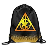 Cheap Hunger Games Harry Potter White Sports Drawstring Backpack
