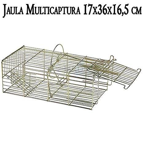 Suinga Jaula multicaptura 17 x 36 x 16,5 cm. Jaula de Alambre con ...