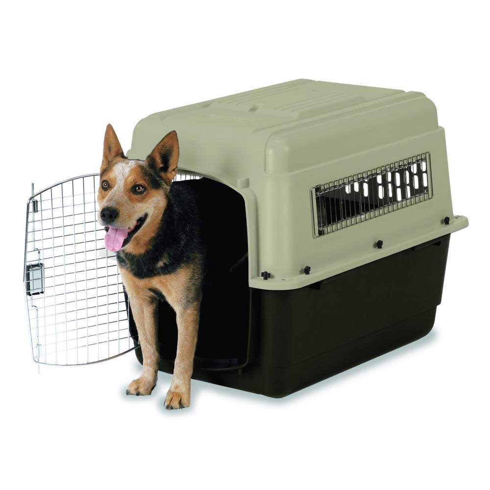 Petmate Ultra Vari Dog Kennel, Heavy-Duty, No Tool Assembly, 4 Sizes, Taupe/Black by Petmate (Image #2)